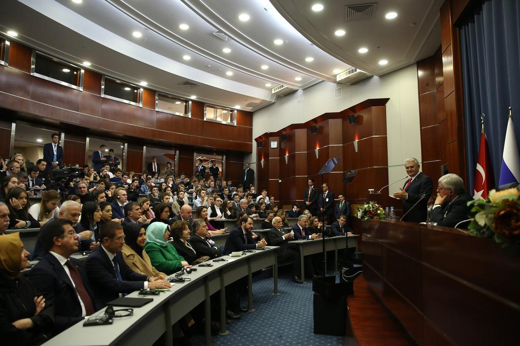 Başbakan Yıldırım'ın Rusya ziyaretinden kareler