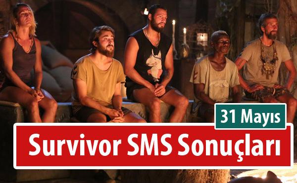 Survivor Oy Sıralaması ve 31 Mayıs 2016 Halk Oylaması SMS Sonuçları - Kim elendi?