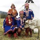скандинавский этнический костюм.