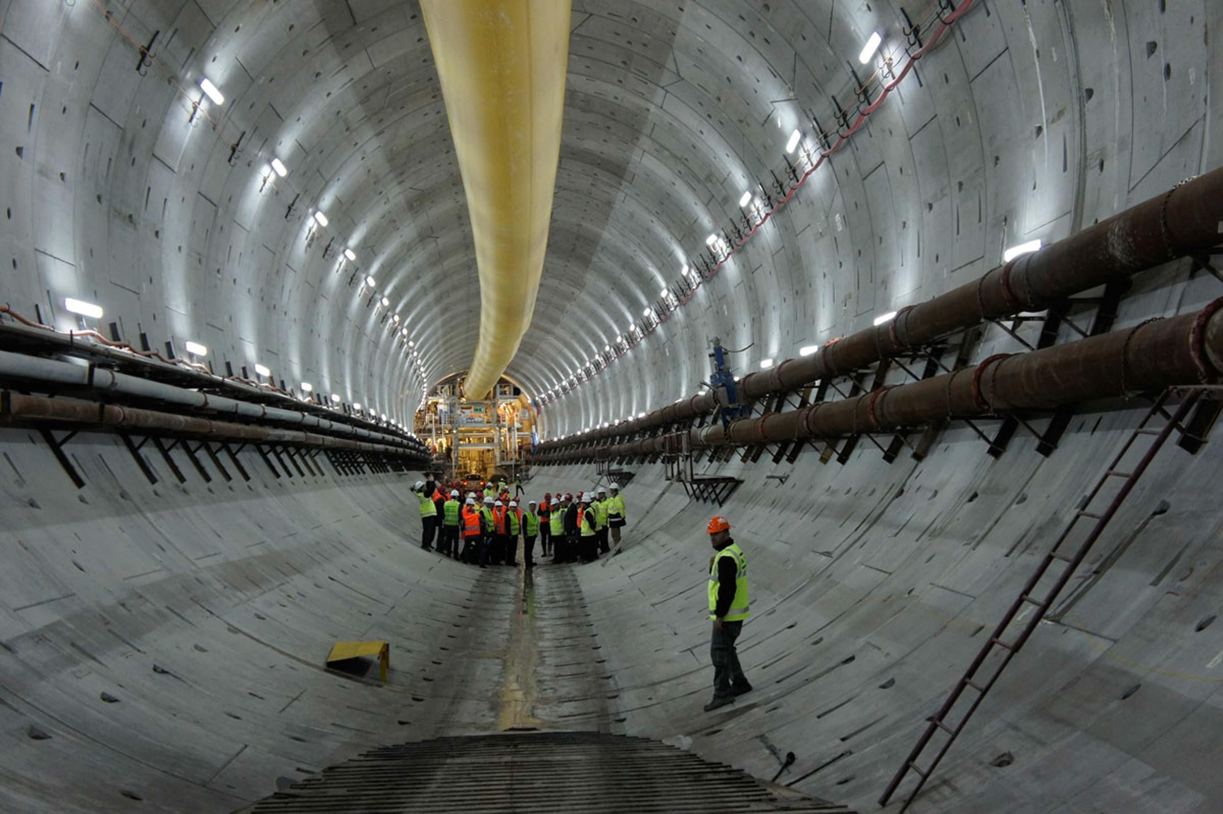 Avrasya Tüneli 50 gün kala havadan görüntülendi
