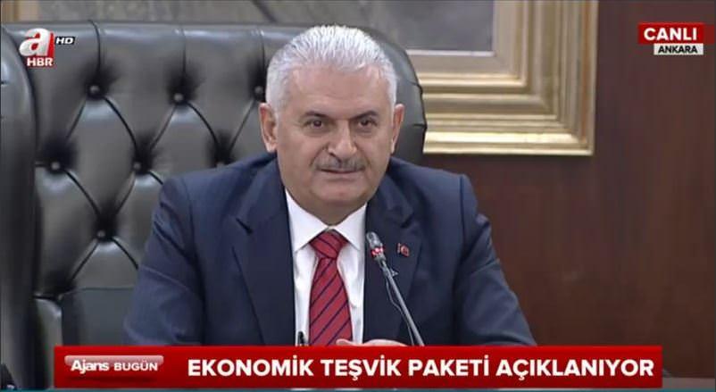 Başbakan Yıldırım'dan Yeni Ekonomik Teşvik paketi