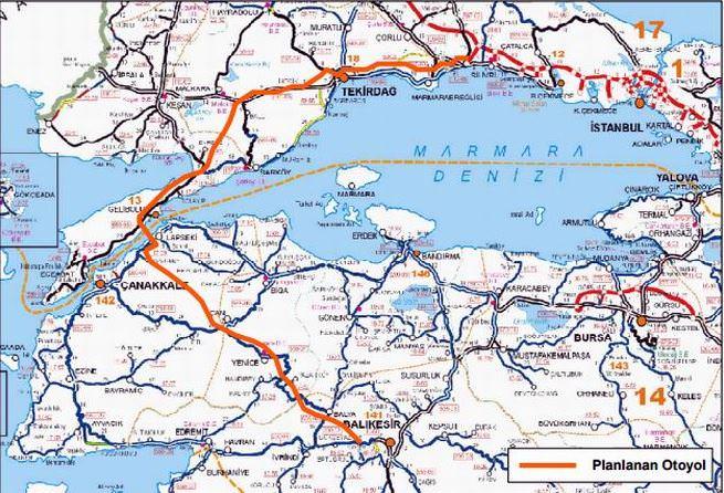 İstanbul-Çanakkale arasında 'yay' proje hayata geçiyor