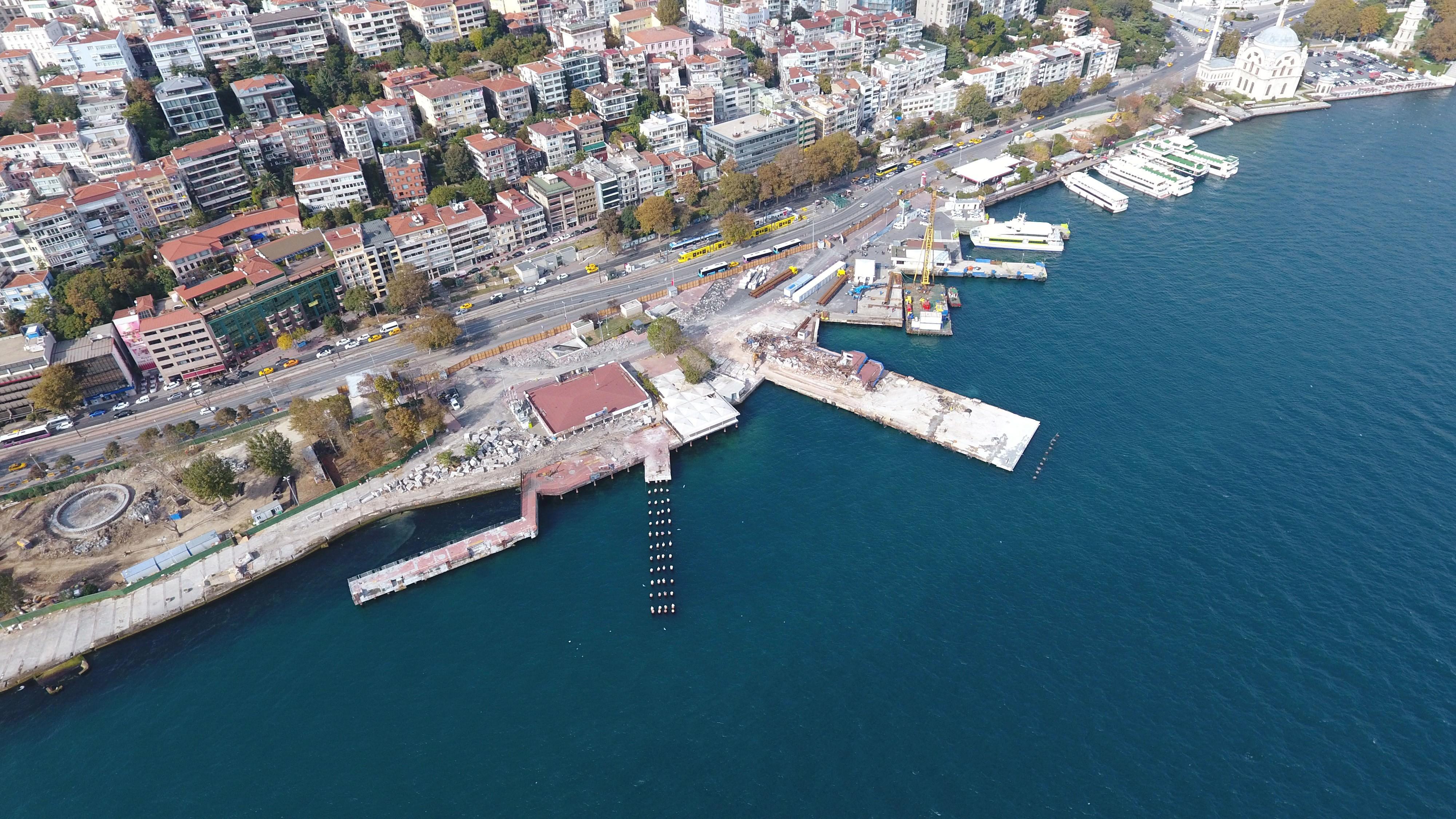 Kabataş'ın 'Martı' projesi havadan görüntülendi!