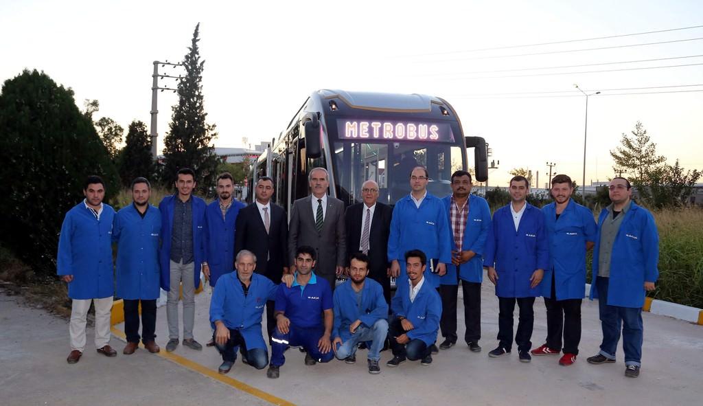 Türkiye metrobüs üretmeye başladı