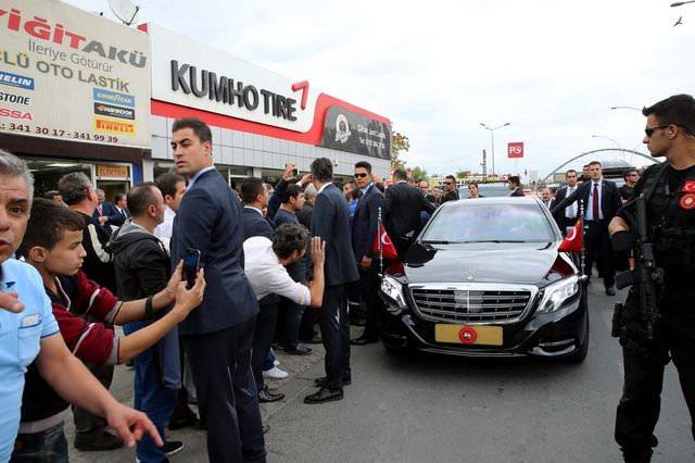 Cumhurbaşkanı Erdoğan ve Başbakan Yıldırım'dan esnaf ziyareti