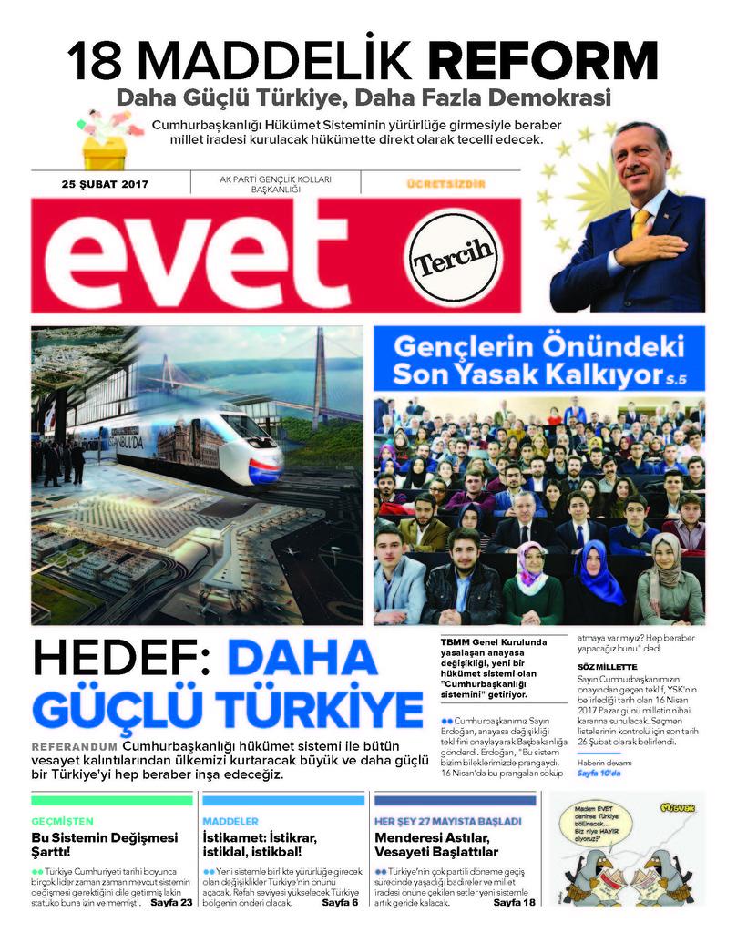 İşte AK Parti'nin 'EVET' gazetesi