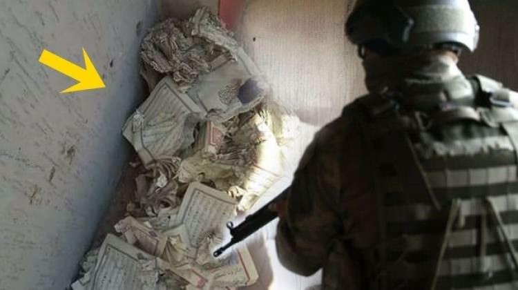 PKK'lılar Kuran-ı Kerim'leri parçaladı