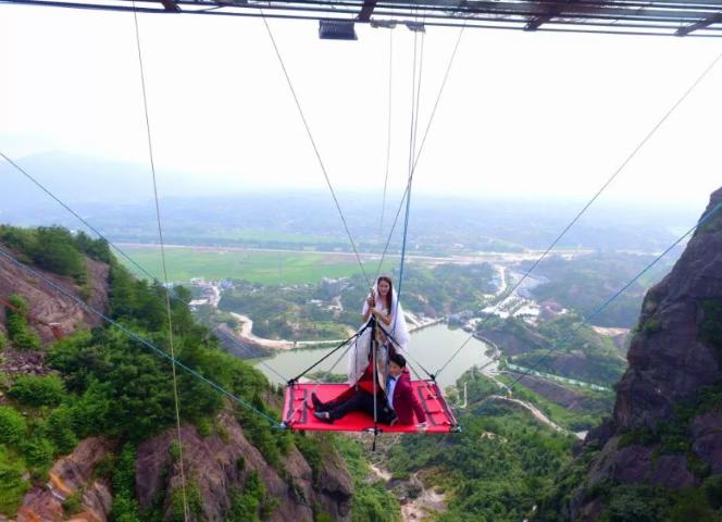 80 metre yükseklikte nefes kesen düğün