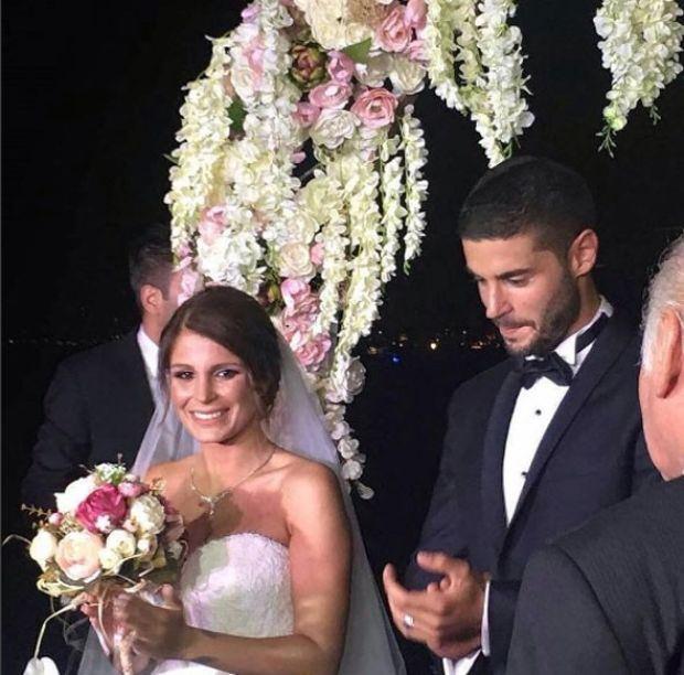 Merve Şarapçıoğlu ile Berk Oktay'ın düğününden kareler