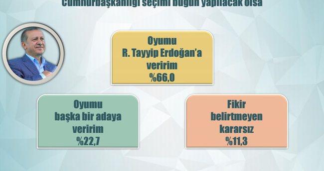 Cumhurbaşkanı Erdoğan'a özel anket