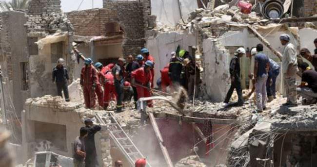 Irak uçağı yanlışlıkla Bağdat'ı bombaladı