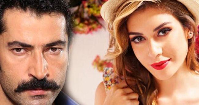 Kenan İmirzalıoğlu ile Sinem Kobal dudak dudağa