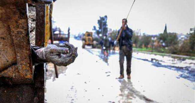 Kobani'de IŞİD çekildi dehşet kaldı!