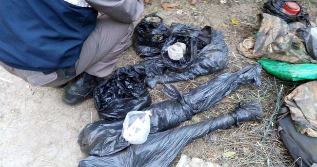 PKK'nın silahları bakın nerede bulundu