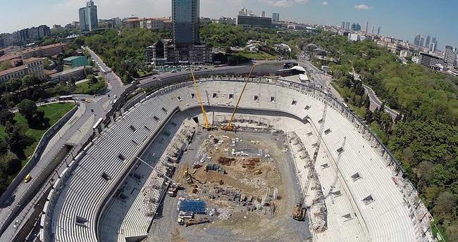 Vodafone Arena'nın kaba inşaatı tamamlandı