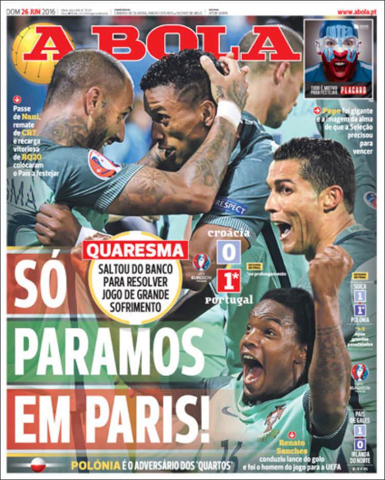 Portekiz'de manşetler Quaresma!