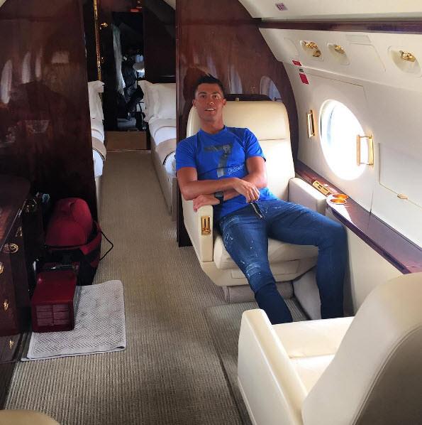 Ronaldo'nun jeti kaza yaptı