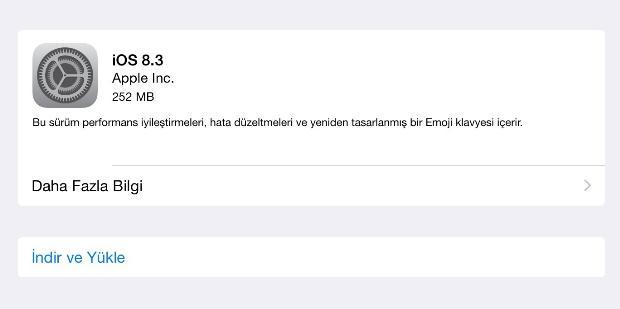 iOS 8.3 ile birlikte gelen yeni özellikler