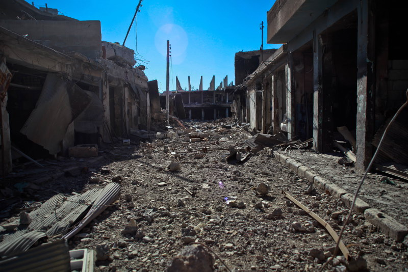 AA harabeye dönen Kobani'yi görüntüledi