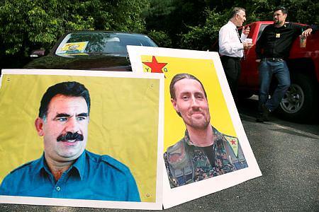 ABD'li Kürdistan plakasıyla defnedildi