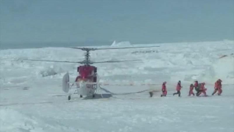 Antarktika'da mahsur kalanlar kurtarıldı