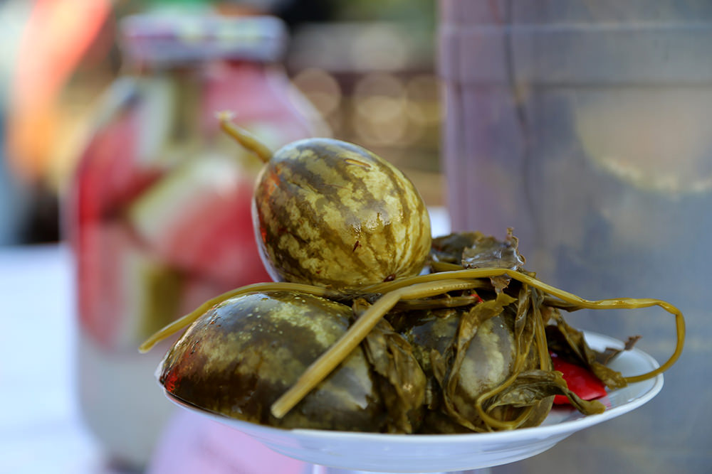 Azerbaycan'da karpuz festivali