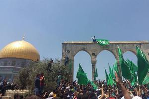 İsrail Mescid-i Aksa'da protesto edildi