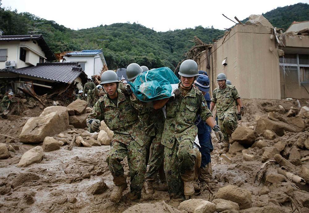 Japonyada sel ve toprak kayması