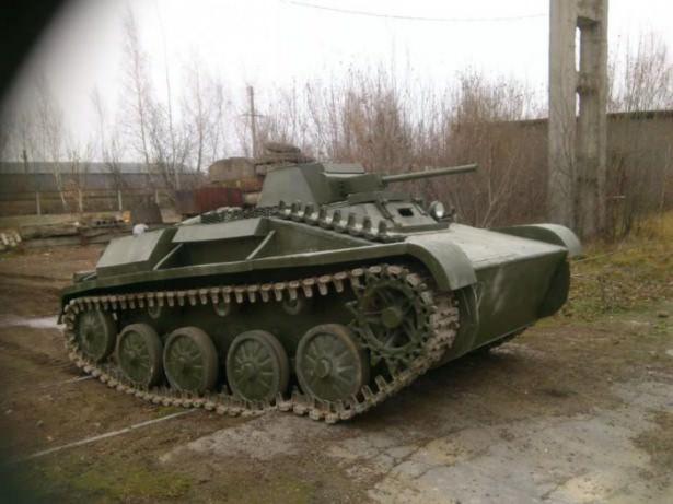 Kendi tankını yaptı!