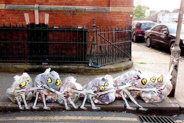 Londra'da Sokak Çöpleri Sokak Sanatına Dönüşünce