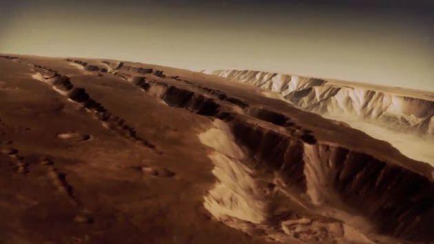 Mars'ın üzerinde nefes kesen uçuş