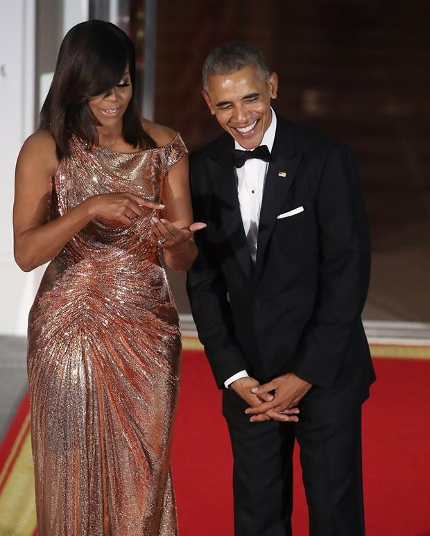 Michelle Obama'nın Beyaz Saray şıklığı