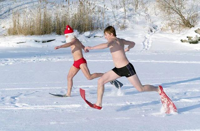 Rusların kar keyfi