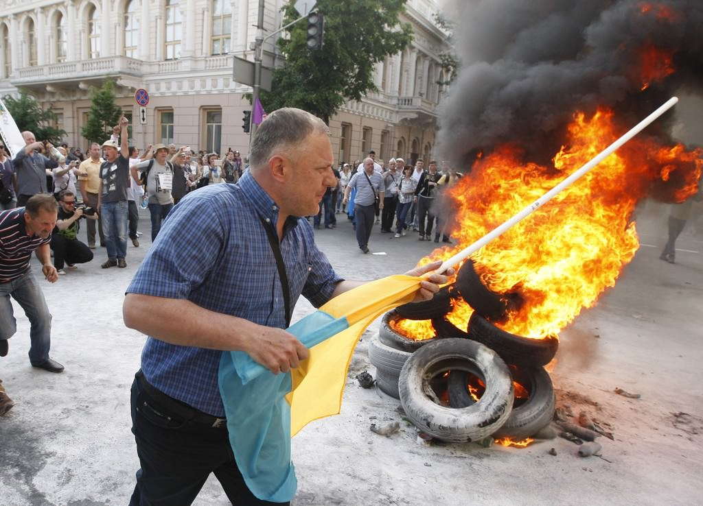 Ukrayna'da finansal meydan eylemi