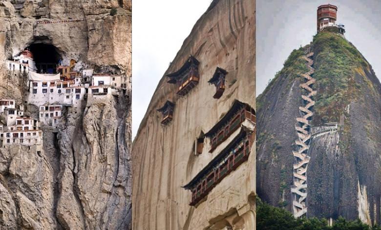 Yükseklere kurulmuş muhteşem yapılar!