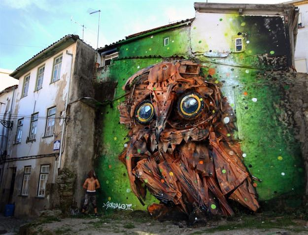 Çer çöpten üç boyutlu grafiti