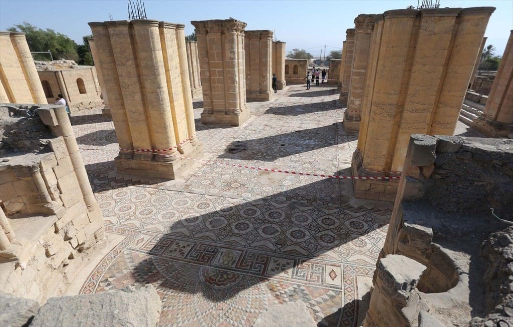 Dünyanın en büyük mozaik tablosu Filistin'de açıldı