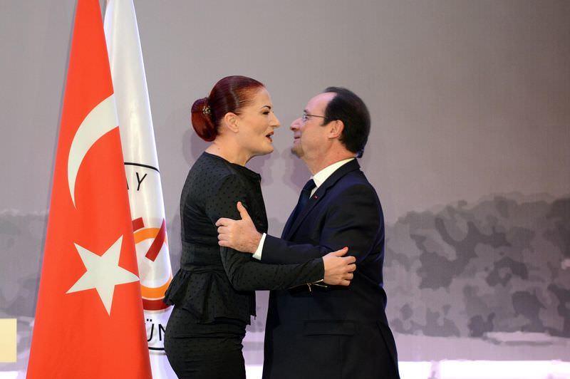 """Hollande'dan Candan Erçetin'e """"edebiyat ve sanat nişanı"""""""