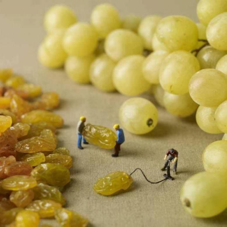 Japon Sanatçının Yapmış Olduğu Minyatür İnsanlar ile Gündelik İşler