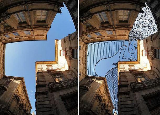 Ünlü fotoğrafçı gökyüzünü tuval gibi kullanıyor!