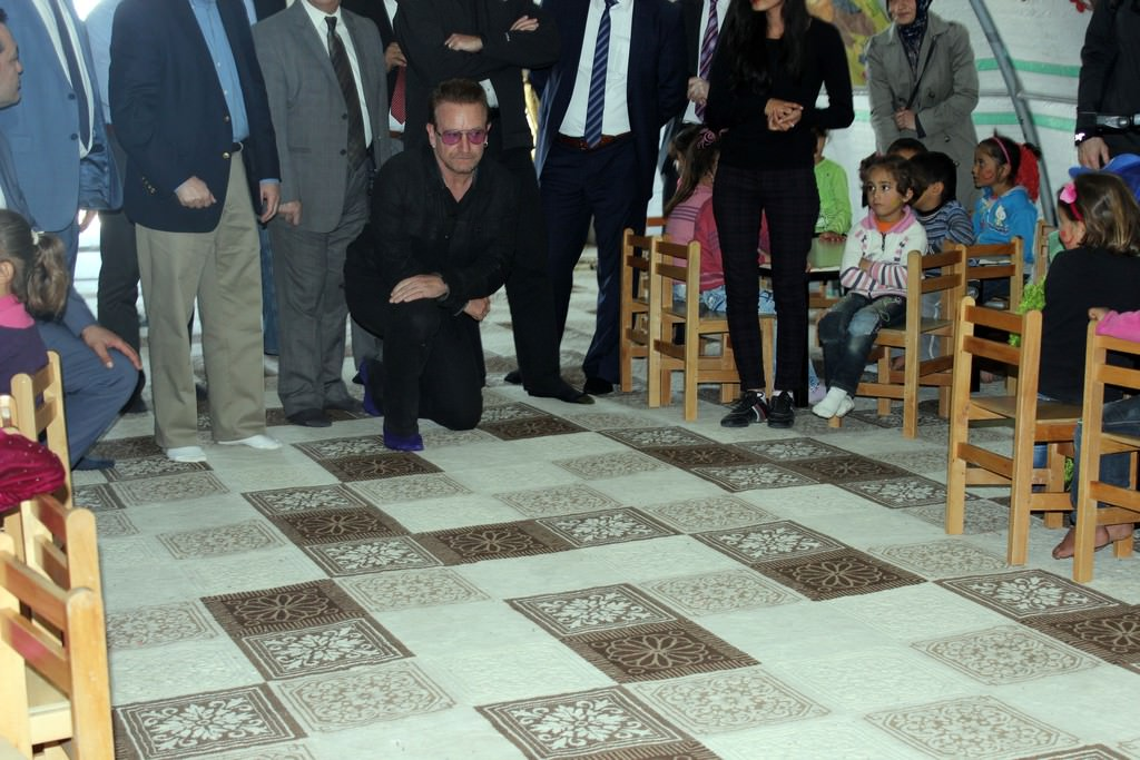 Dünyaca ünlü şarkıcı Bono, Gaziantep'te