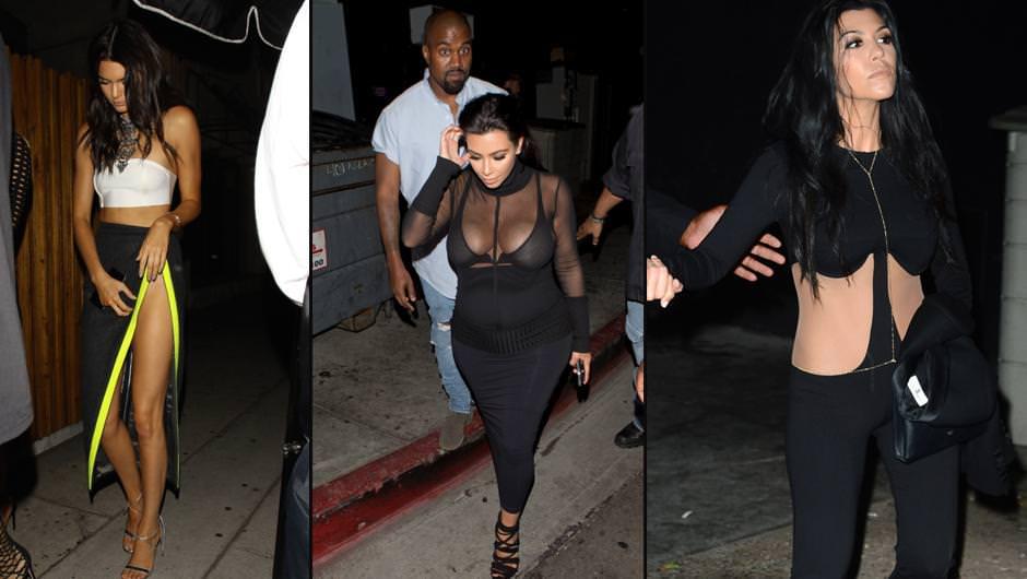 Kardashian ailesi giyim tarzı ile konuşuluyor