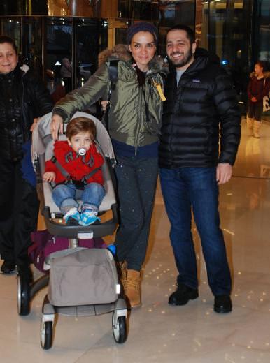 Özer Sancak ve ailesi gezmede