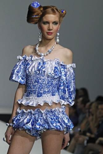 Русско-народное дефиле YanaStasia.  Мода, стиль.