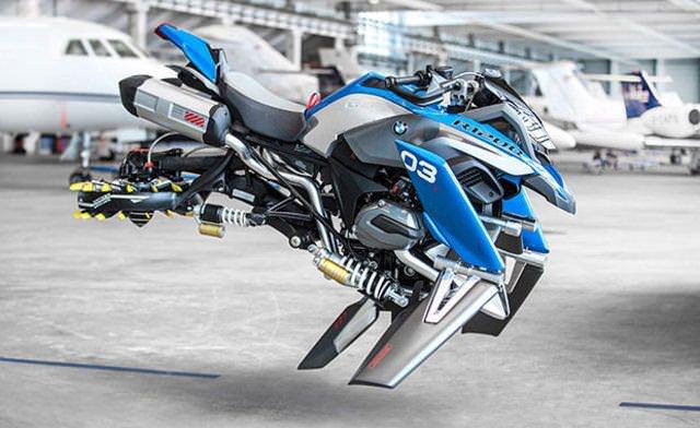 Bu da uçan motosiklet