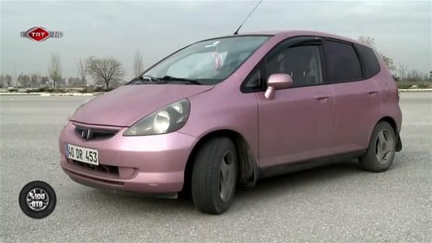 Genç kadının otomobili bakın nasıl yenilendi