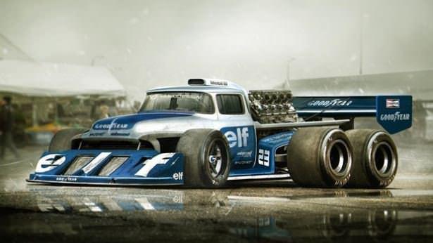 Hayalindeki otomobilleri photoshopla yaptı!