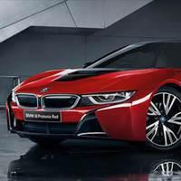 Özel kırmızı BMW i8 Celebration Edition