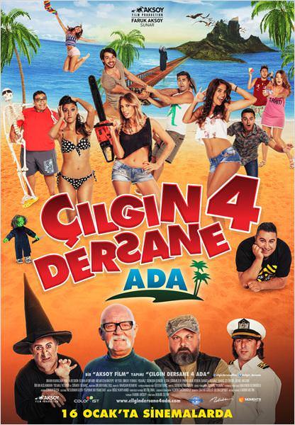 Çılgın dersane 4 ada filminden kareler