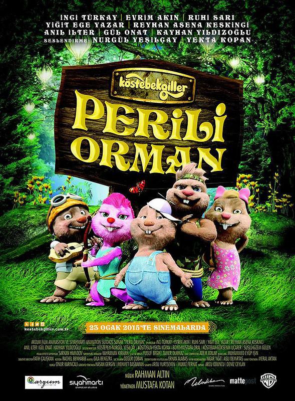 Köstebekgiller: Perili Orman filminden kareler